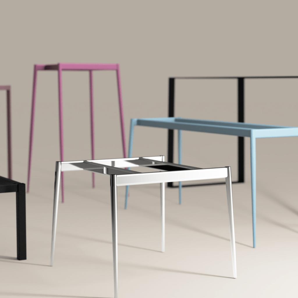 Frame table bases