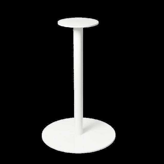 Flatbase pöydän laippajalka valkoinen 700-S40-01-50.2