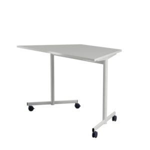 140x70x70 STUDY Shaped table with castors