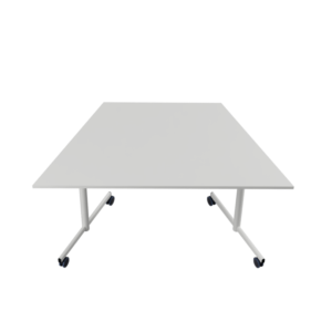 140x70x70 STUDY Shaped table with castors above
