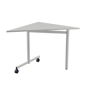 80x80 STUDY Triangle table with castors