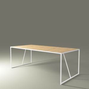 FRAME table with white base