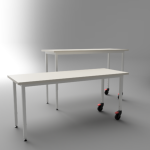 FRAME tables with castors