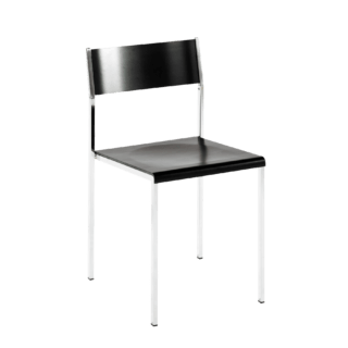 Flow stackable chair black