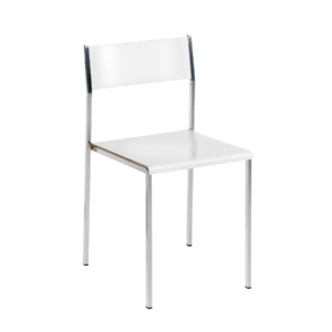 Flow stackable chair white