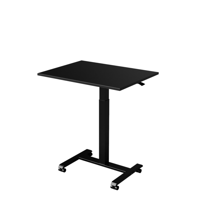 Sit Stand Small Office Desk Black